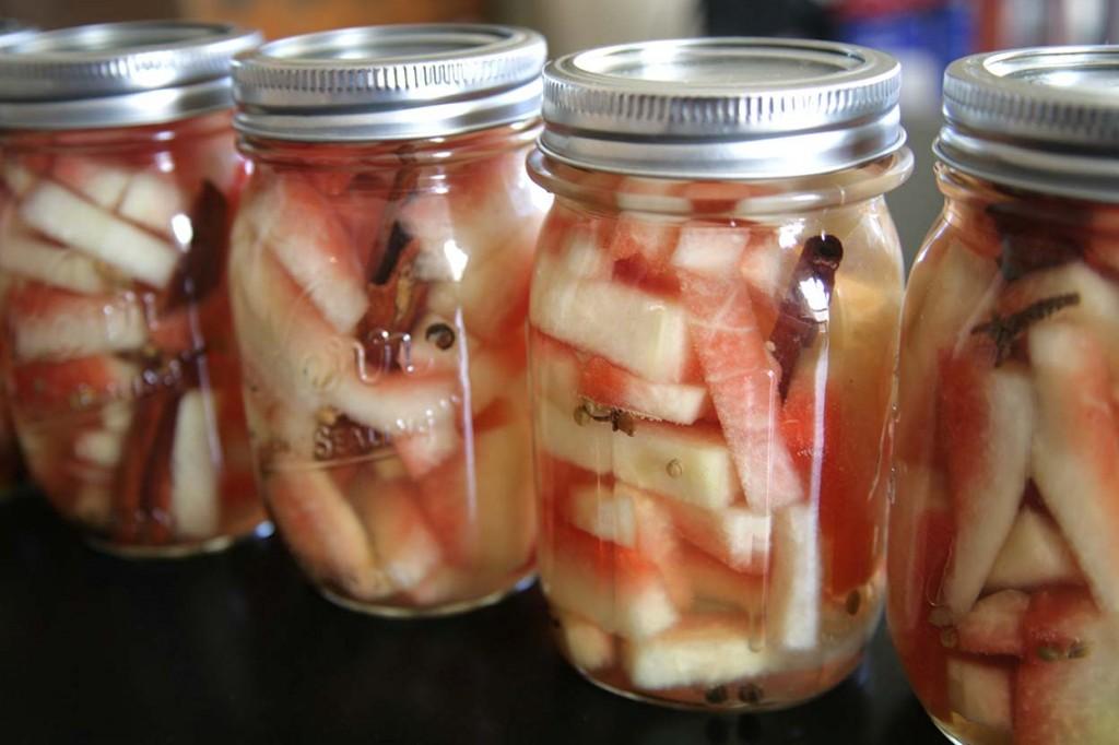 watermelon rind pickle jars